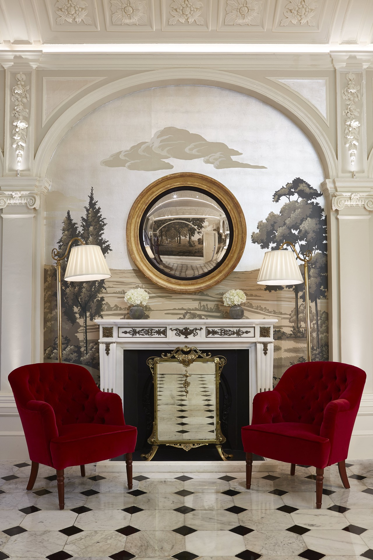 The Goring_refurbished Front Hall_Fireplace_March 2015_Med res